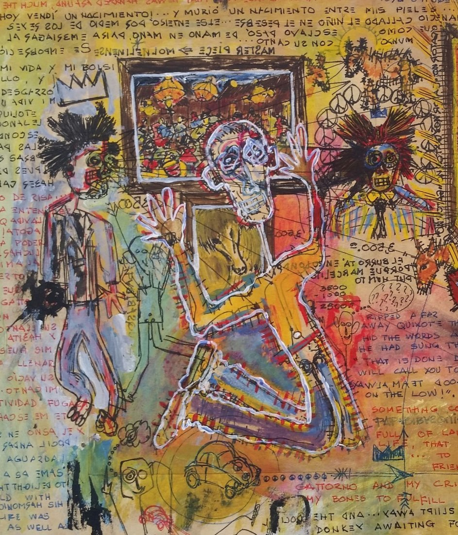 Jean Michel Basquiat Drawing Mixed on paper (1960-1988) - 6