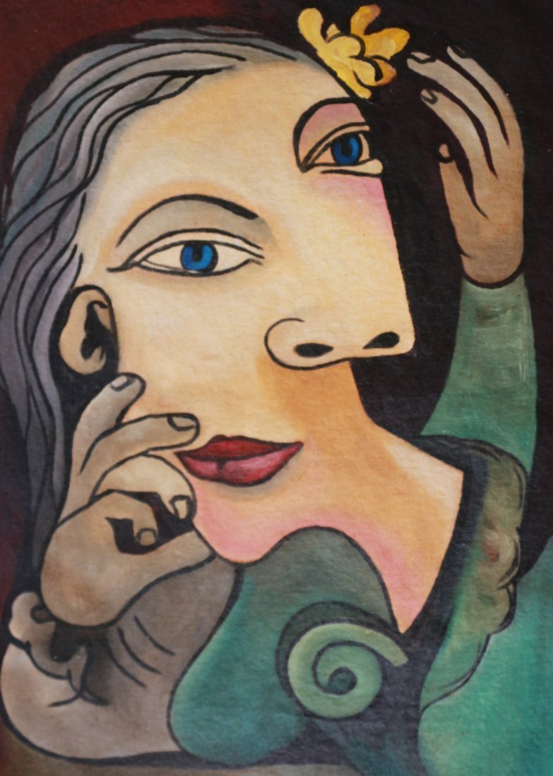 PABLO PICASSO FACES CUBISM CANVAS (Spanish 1881- 1973) - 2
