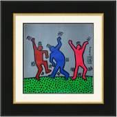 Keith Haring Mixed Media on Paper, (Attrib 1958-1990)