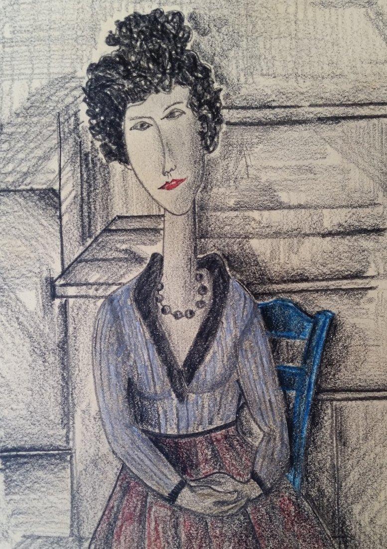 Amedeo Modigliani (Attri, Mixed media hard paper - 2