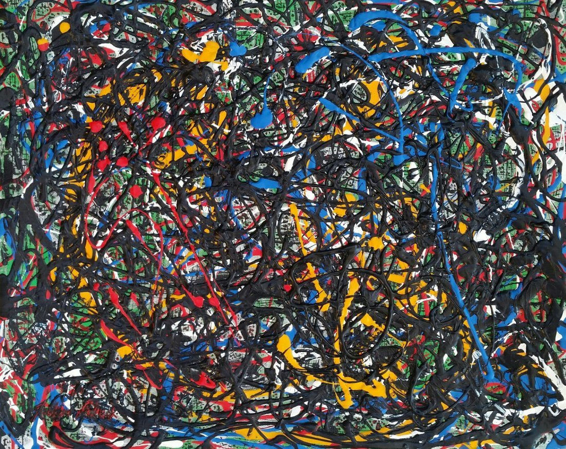JACKSON POLLOCK ABSTRACT EXPRESSIONIST (1912-1956 )