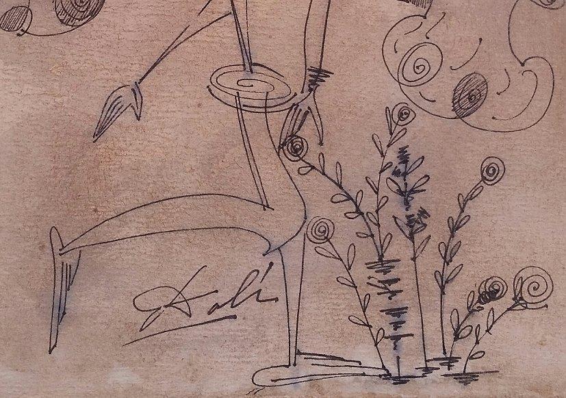 Salvador Dali Drawing Mixed Media Spanish 1904-1989 - 2