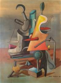 Yves Tanguy Mixed Media On Board French (1900 �1955)