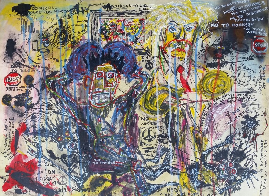 Jean Michel Basquiat Drawing Painting 1960 - 1988