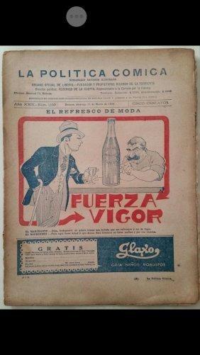 ANTIQUE VINTAGE OLD NEWSPAPER CUBAN LA POLITICA COMICA.
