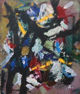 Franz Kline Abstract Mixed Media Art (1910-1962)