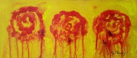 Edwin Parker Cy Twombly Flowers Mixed Media 1928 –