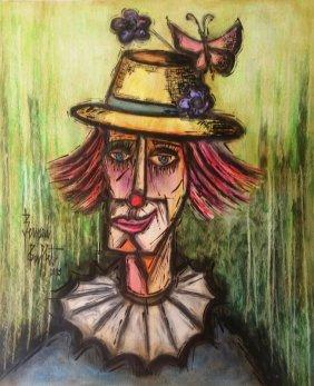 Bernard Buffet Clown French Expressionism (1928-1999)