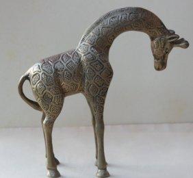 Bronze Figure Sculpture Antique Giraffe