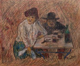 Henri de Toulouse-Lautrec (Mixed Media on Hard Paper)