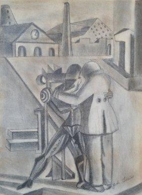 Giorgio de Chirico Drawing Surrealism Italian 1888-1978