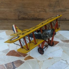 VINTAGE WWI AIRPLANE ANTIQUE COLLECTIBLE