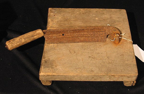 2003: Tobacco Cutter Chopping Block From Hausmann Store