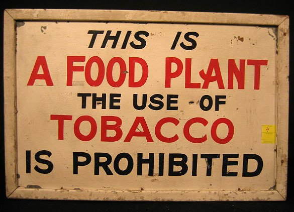 2004: Hand Painted Tin Tobacco Sign.  Country Store