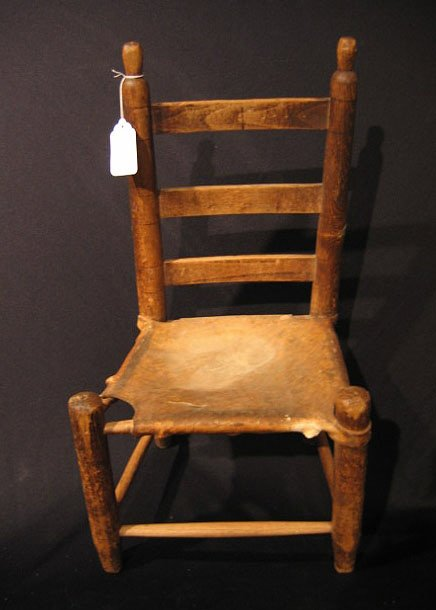 2015: Early Child's Texas Settler's Chair Rawhide Seat