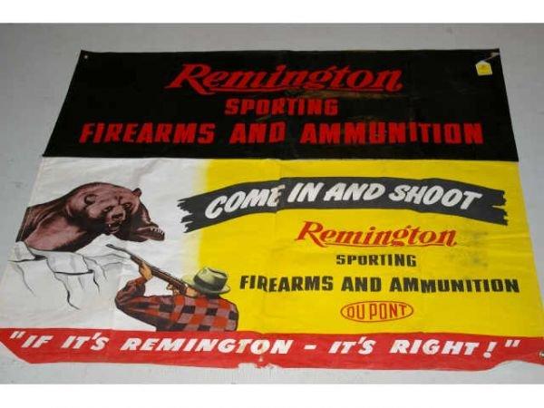 2: Remington Shooting Gallery Banner Gun Advertising