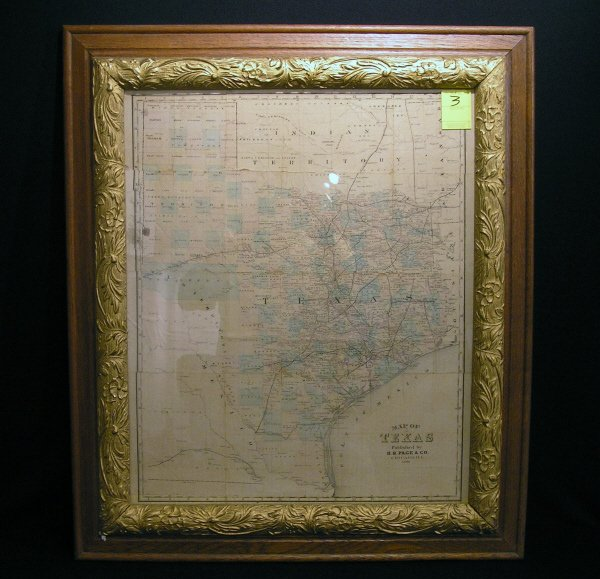 3: Early Texas Map Dated 1884 HR Page and Company