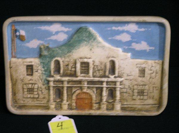 4: Texas Pottery Alamo Plaque