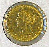 16: 1892 Liberty Half Eagle $5 Gold Coin