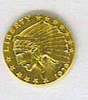 18: Indian Head Gold Coin 1929 $2.50