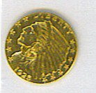 19: Indian Head Gold Coin 1925 $2.50