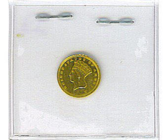 20: 1873 $1 One Dollar Gold Gold