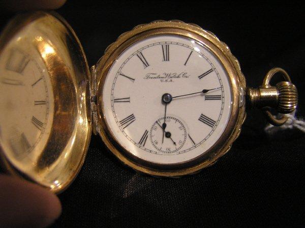 22: Trenton Watch Co. 14k Pocket Watch