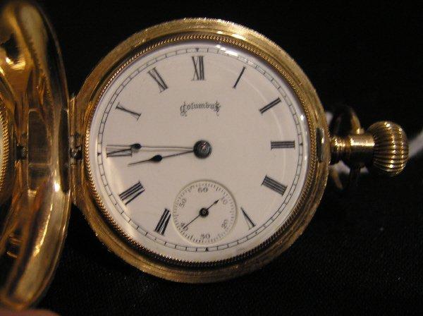 24: Columbus 14k 15 Jewel Pocket Watch