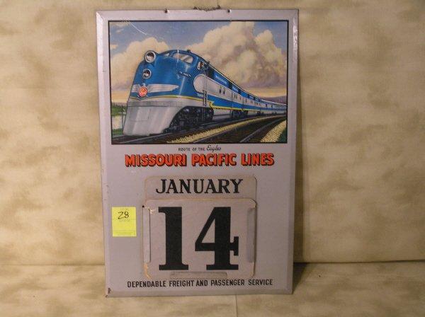 28: Missouri Pacific Railroad Lines Calendar