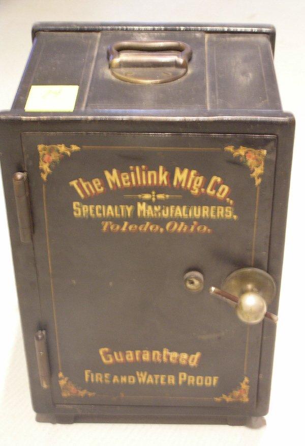74: Salesman Sample Meilink Mfg Co Miniature Safe