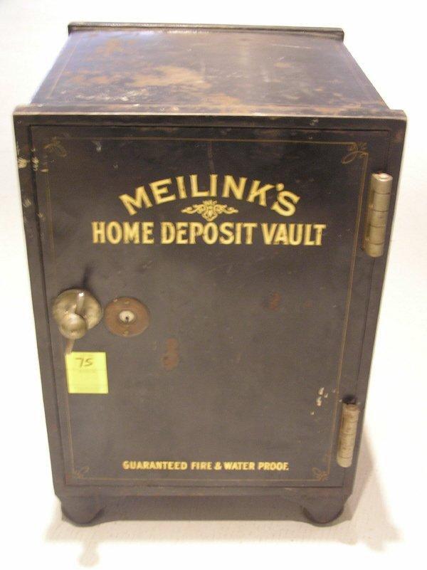 75: Meilinks Mfg. Co. Home Deposit Small Safe