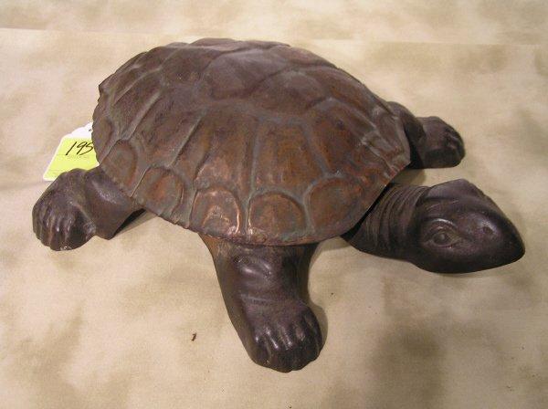 195: Cast Iron Turtle Spitoon