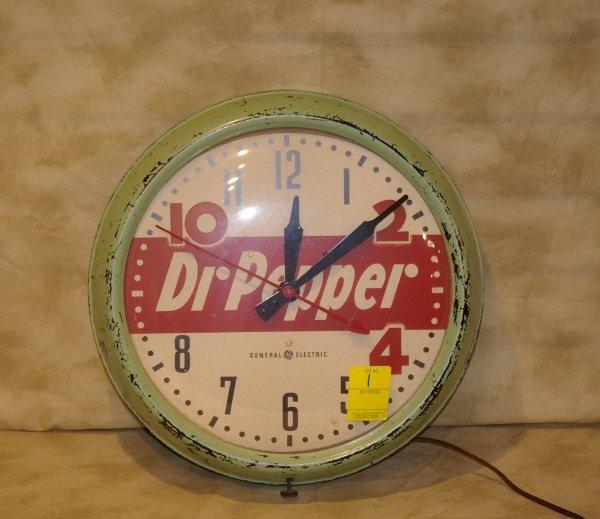 1001: Dr. Pepper  Advertising Clock