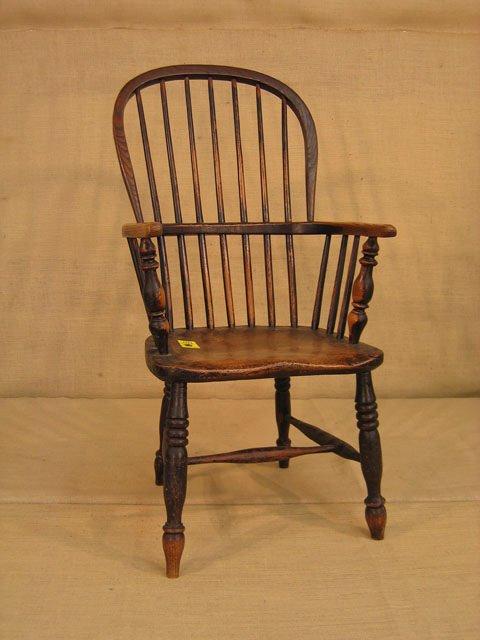 421: Nice early Windsor chair. English.