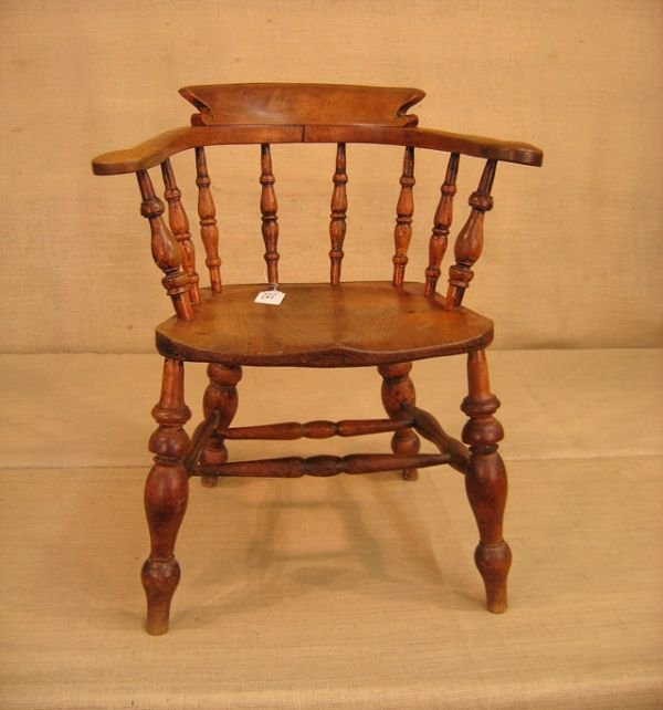 422A: Mid 19th century English club chair.