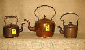 543 Copper Tea Kettles All early pieces