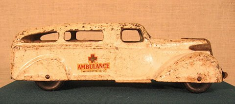 2: Wyandote toy ambulance. Original decals and paint.