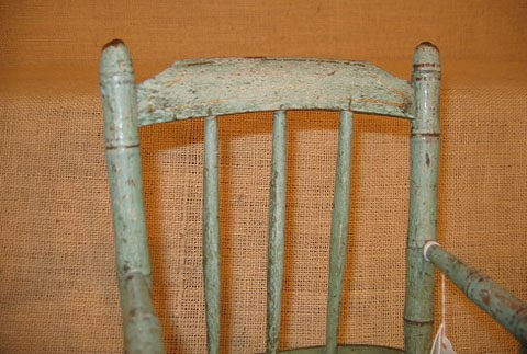 917: 19th century doll chairs. Polychrome paint. - 10