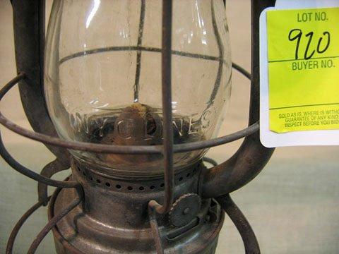920: Railroad lantern. P & L E RR, New  York - 2