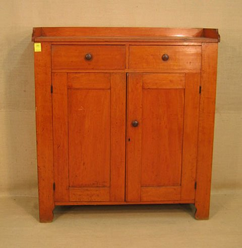 1063: Jelly cupboard. Midwest. 1860. Old salmon stain.
