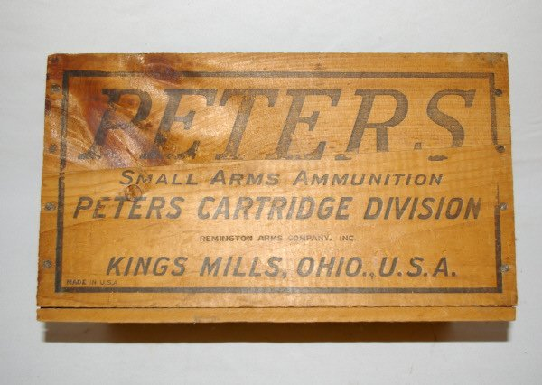 3009: Peters Wooden Ammo Crate