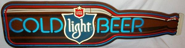 3014: Vintage Lone Star  Bottle Beer Sign Advertising - 2