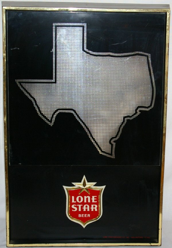 3015: Vintage Lone Star Sign Advertising