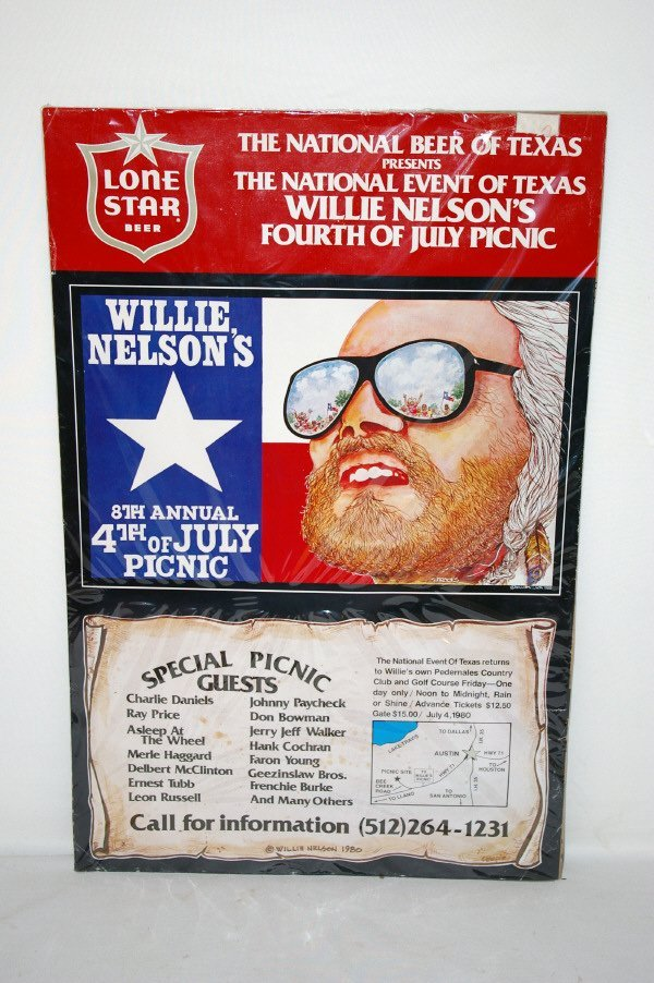 3016: Willie Nelson 8th Fourth Of July Picnic Poster