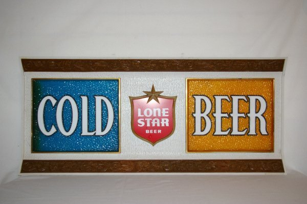 3017: Lone Star Beer Sign Front Advertising