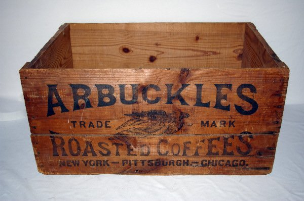 3094: Vintage Arbuckles Wooden Coffee Crate - 2