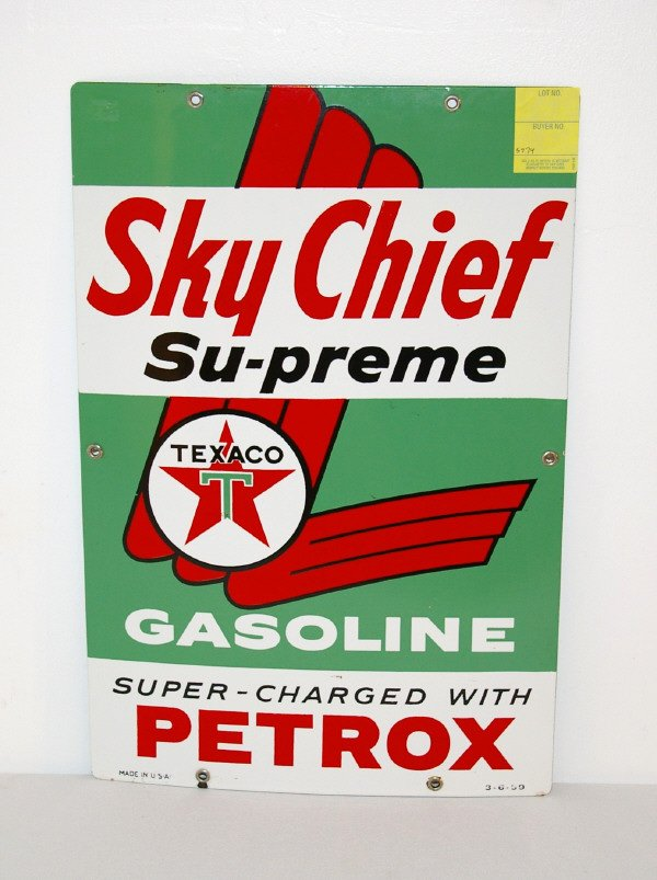 1: Texaco Sky Chief Porcelain Advertising Sign