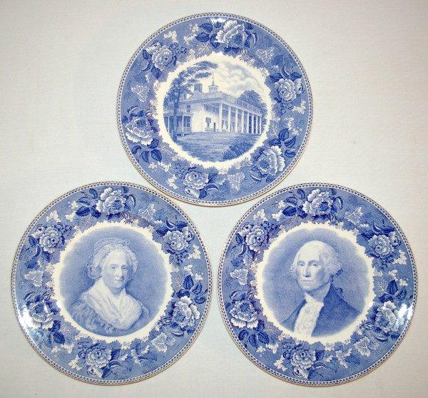 101: Wedgwood China George Washington Plate Set 1932