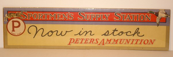 182: Peters Ammunition Advertising Sign