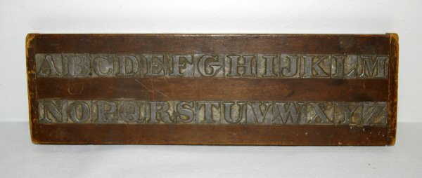 425: Antique Alphabet Board From Indian School